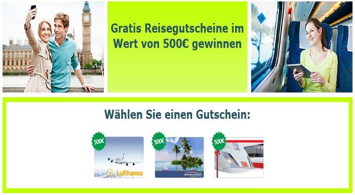 500 Euro Reisegutschein