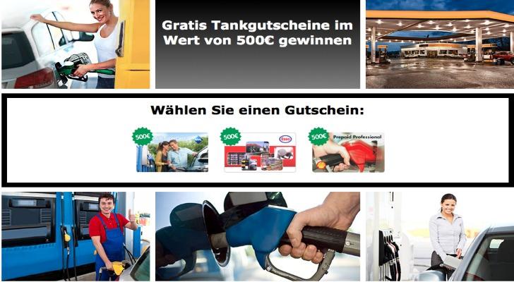 500 Euro Tankgutschein gewinnen