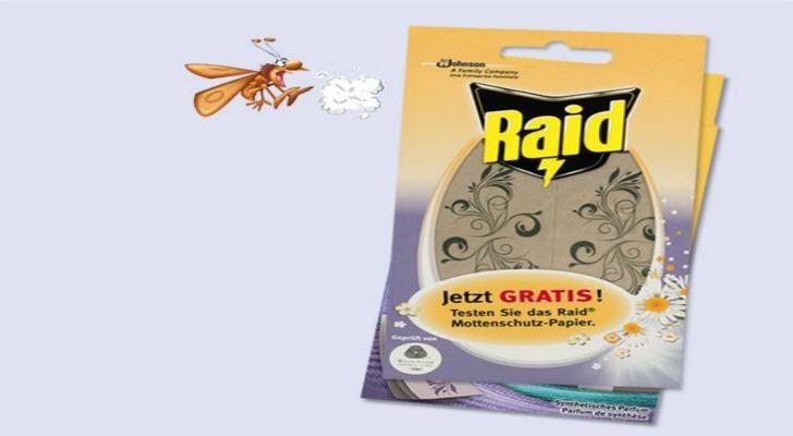 Raid Mottenschutz gratis