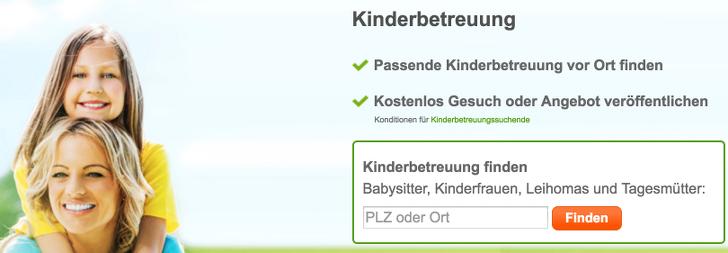 Kinderbetreuung finden   ErsteKinderbetreuung.de