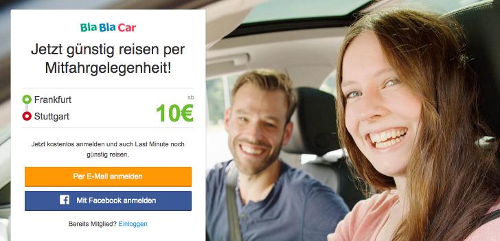 Bla Bla Car gratis testen