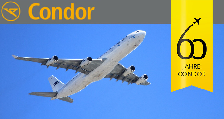 Condor verlost kostenlos Flugtickets
