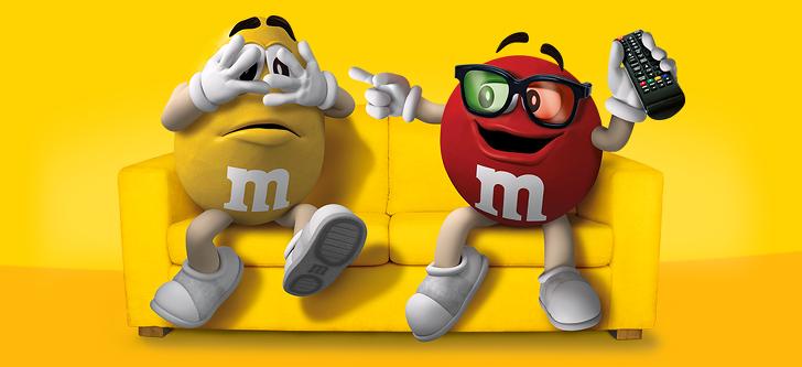 M-und-M Packung kostenlos essen