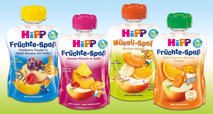 Gutschein fuer gratis Quetschbeutel von Hipp