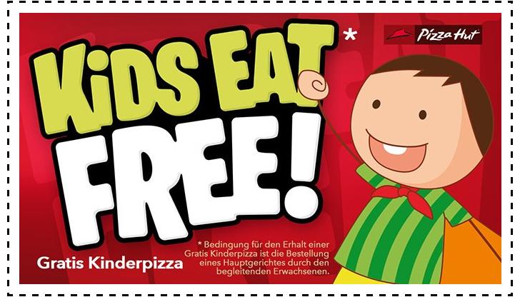 gratis Essen fuer Kinder bei Pizza Hut