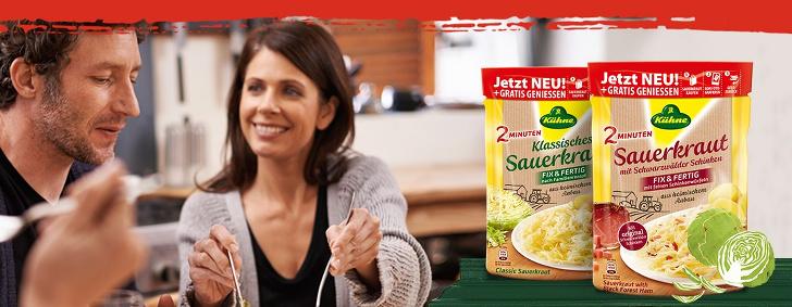 gratis Sauerkraut von Kuehne