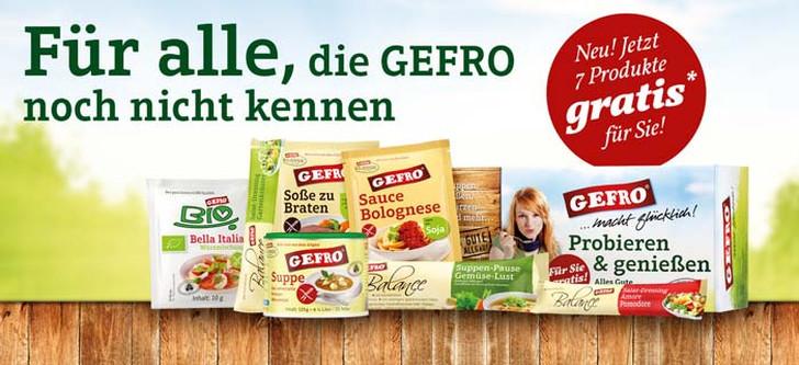kennenlernaktion kostenlose Produkte von Gefro