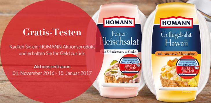 Homann-salate gratis testen