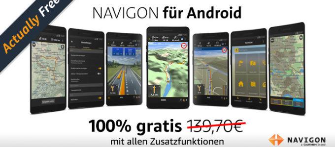 Gratis Navigon App bei Amazon – 140€ geschenkt