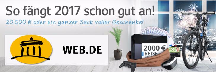 WEB.DE Gewinnspiel Januar 2017