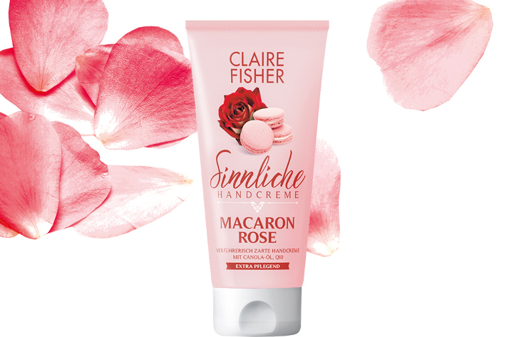 Claire Fisher Macaron Rose Handcreme gratis
