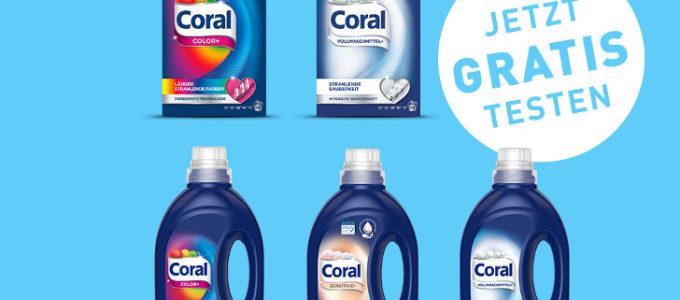 Perfekte Wäsche: Coral Waschmittel testen & Geld zurück