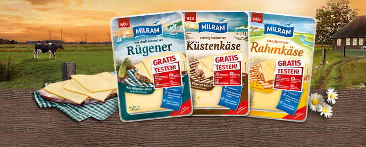 Milram Kaese gratis