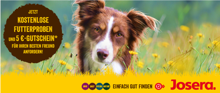 waehlen sie gleich zwei kostenlose Hundefutterproben aus