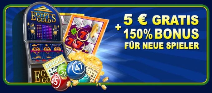 Erhalten Sie 5€ kostenlos beim Spielen mit WinsPark