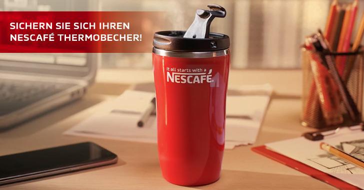 nescafe thermobecher gratis