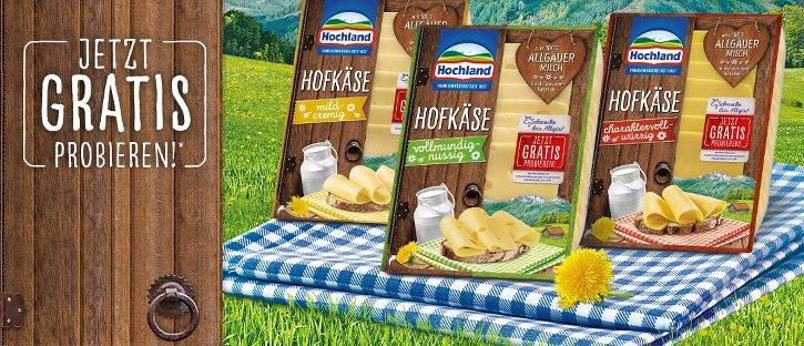 Gratis Produkte von Hochland